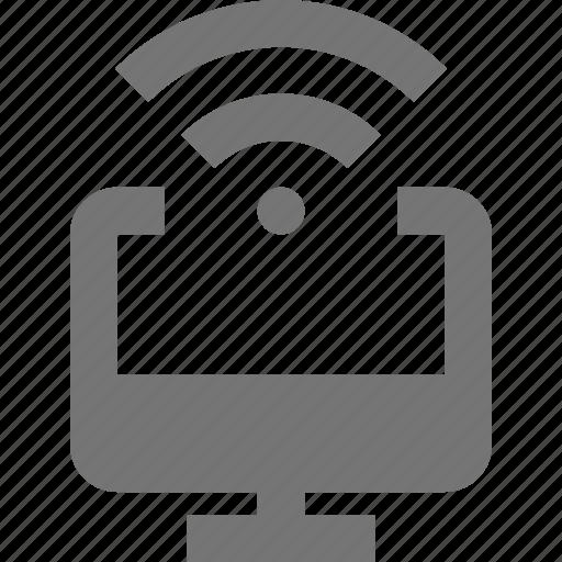 computer, signal, wifi icon