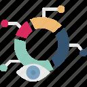 data visualization, predictive analytics, analytics monitoring, data analysis icon