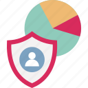 cybersecurity, data management, data security, data visualization icon