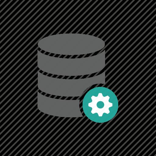 database, gear, option, options, setting icon