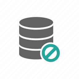 database, error, forbidden, warning icon