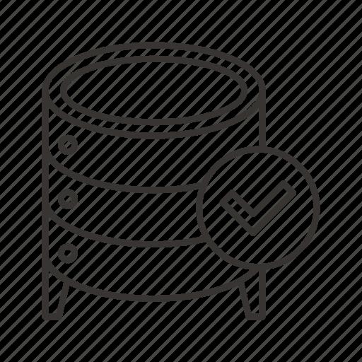 cloud, data, database, done, file, server, storage icon