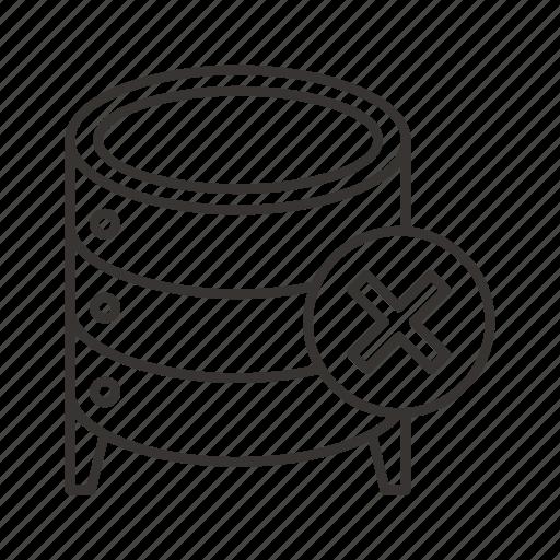 cloud, data, database, file, remove, server, storage icon