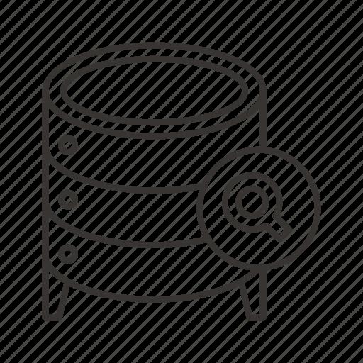 cloud, data, database, file, find, server, storage icon