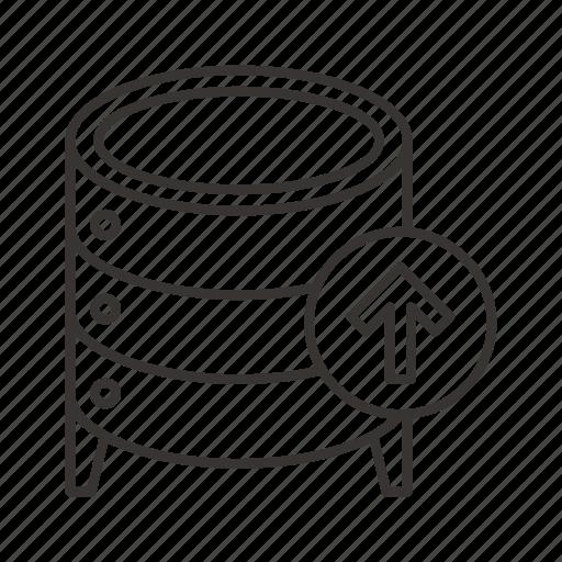 cloud, data, database, import, server, storage, upload icon