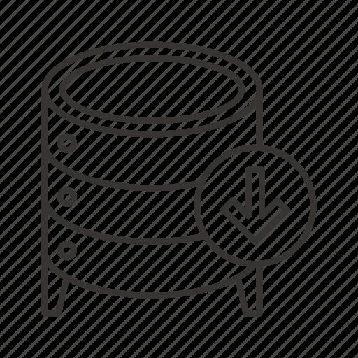 cloud, data, database, dump, export, server, storage icon