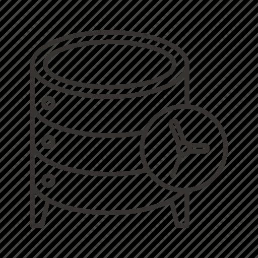 cloud, cron, data, database, schedule, server, storage icon