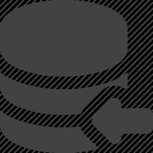 cdn, database, left, server icon