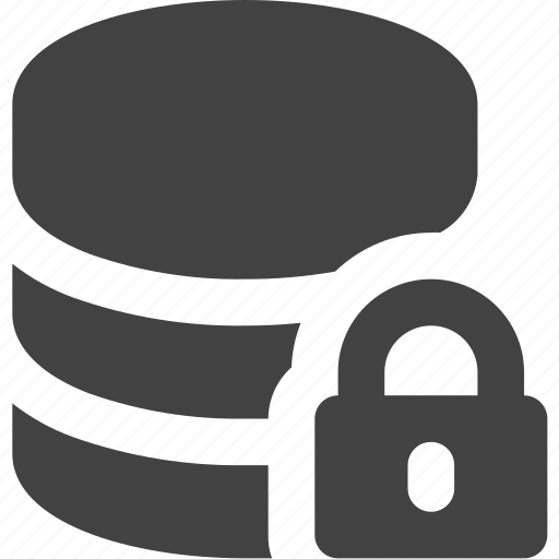 cdn, database, lock, server icon