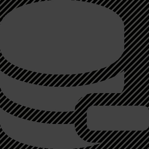 cdn, database, remove, server icon