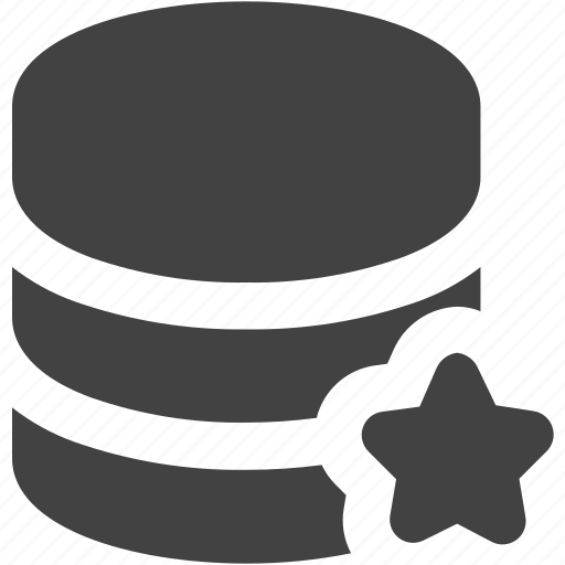 cdn, database, favorite, review, server, star icon