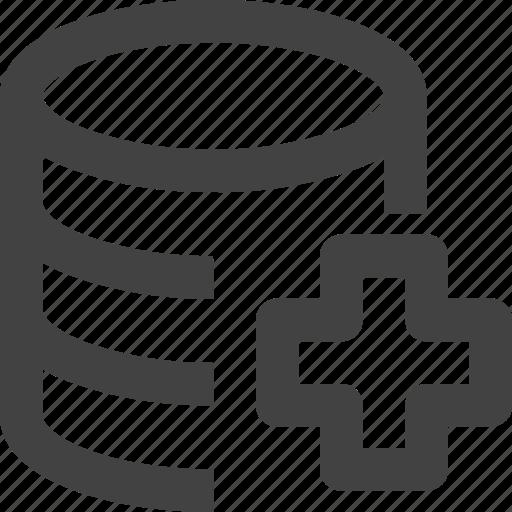 Add, data, database, server, set icon - Download on Iconfinder
