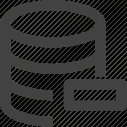 Data, database, remove, server, set icon - Download on Iconfinder