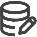 data, database, edit, server, set