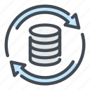 backup, database, network, refresh, server, storage, update