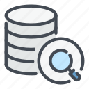 backup, database, find, search, server, storage, view icon