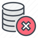 remove, cross, database, storage, backup, server, delete