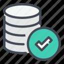 backup, check, database, done, server, storage, tick