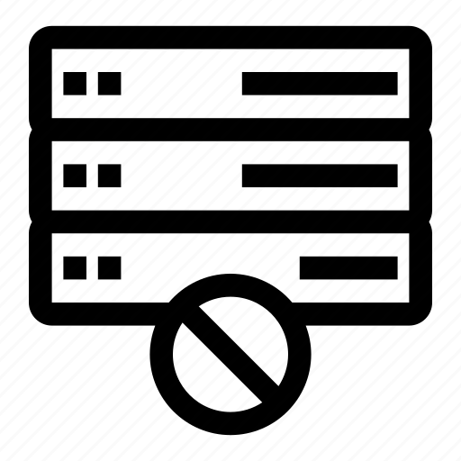 block, database, stop, storage icon