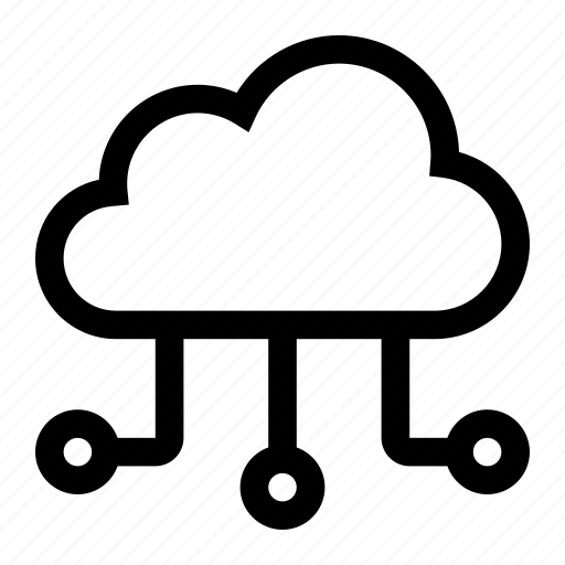 cloud, computing, connection, database icon