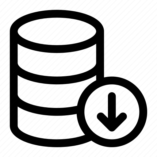 database, download, server, storage icon