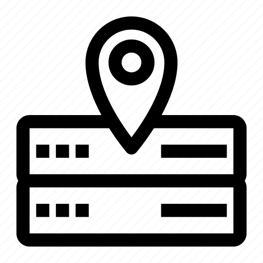 database, location, pin, server icon