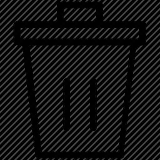bin, delete, dustbin, garbage, remove, trash, trash can icon