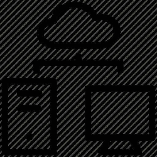 cloud storage, data, data storage, database, hosting, rack icon