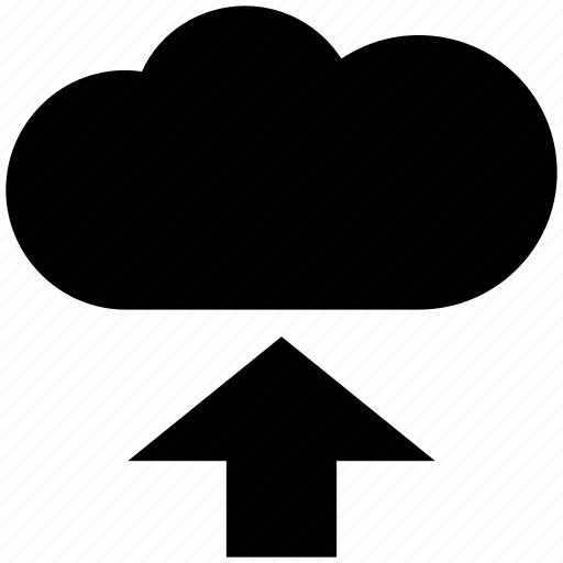 cloud, data storage, data transfer arrow, upload, upload arrow, upload file icon