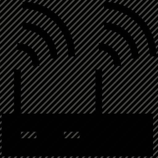 internet signals, modem device, modem signals, network switch signals, router, wifi signals, wireless icon