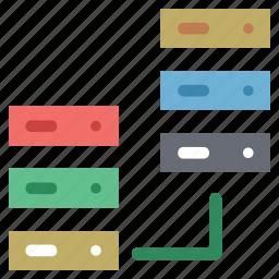 data share, data storage, network share, server, server share, storage share icon