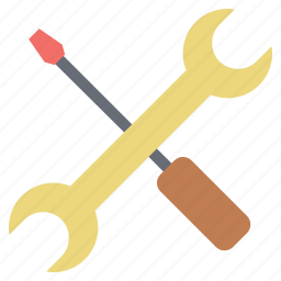 repair, screwdriver, setting, tool, wrench, wrench and screwdriver icon