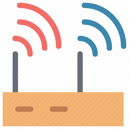 internet signals, modem device, modem signals, network switch signals, router, wifi signals, wireless icon
