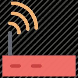 internet device, internet signals, modem antenna signals, modem signals, router, wifi, wifi signals icon