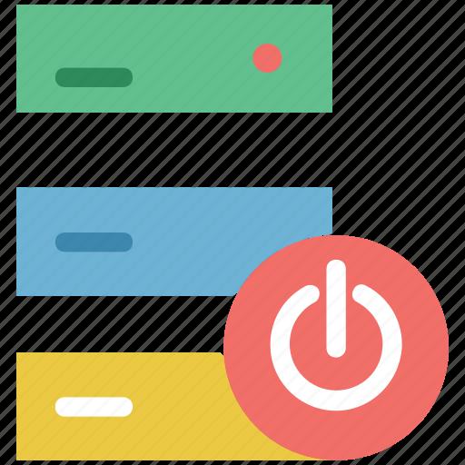 data, data storage, database, hosting, rack, server power, web host icon