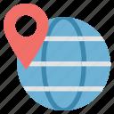 globe, globe pin, navigation pin with globe, world pin, worldwide