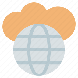 cloud, cloud optimization, cloud server, data storage, globe cloud, network, seo icon
