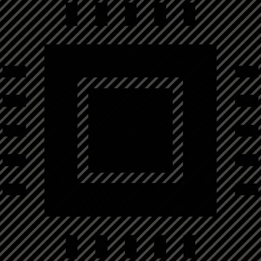 microchip, processor, processor chip, processor cpu icon