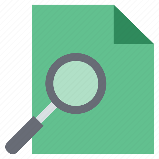 file with magnifying, magnifying, scanning, scanning file, search data, search file, search glass icon