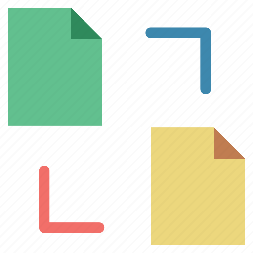 extensions share, file networking, file sharing, file to file, two files sharing icon