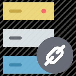 data storage, link building, link building data, link data storage, server link building, server with link building sign, web hosting icon