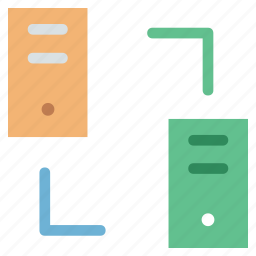 network, networking, pc to pc, server connection, server to server, sharing, web network icon
