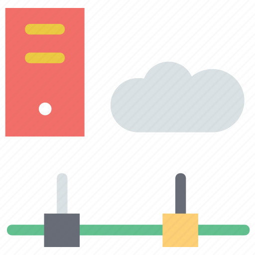 cloud, cloud computing, cloud connectivity server, data storage with cloud, server with cloud icon