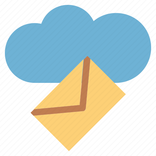 cloud, cloud and computing, draft, electronic email, email, letter, mail icon