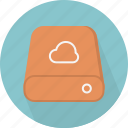 cloud computing, cloud storage, drive, hdd, host, remote, server icon