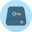 access, authenticate, drive, key, passkey, password, protected icon