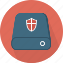 access denied, drive, hardware, privacy, protected, security, shield icon