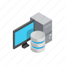 data, database, information, internet, isometric, storage, technology