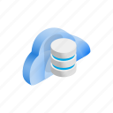 cloud, data, database, funnel, internet, isometric, storage icon