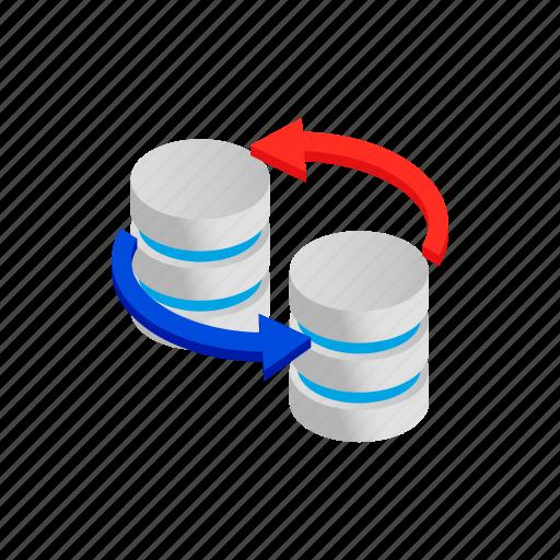 data, database, information, internet, isometric, storage, technology icon